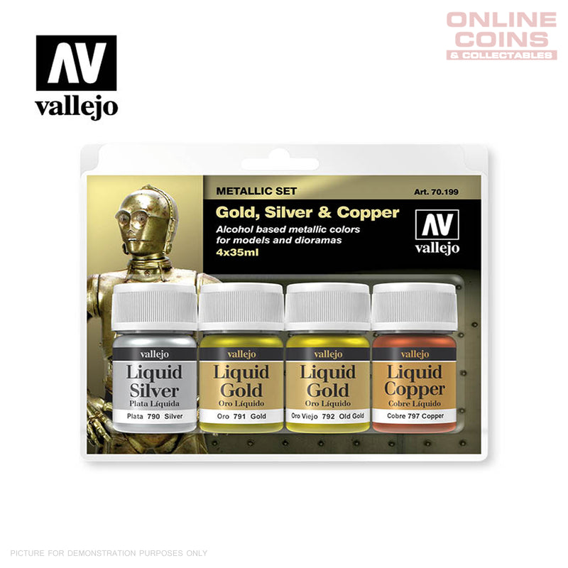 Vallejo Metallic Effects 70.199 - 4 Paint Set