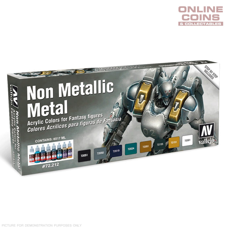 Vallejo AV72212 Game Colour Non Metallic Metal Special 8 Colour Model Paint Set