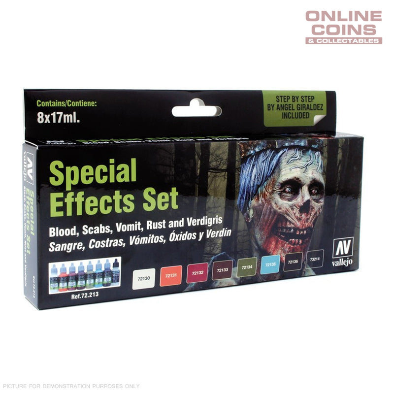 Vallejo AV72213 Game Colour Special Effects Special 8 Colour Model Paint Set