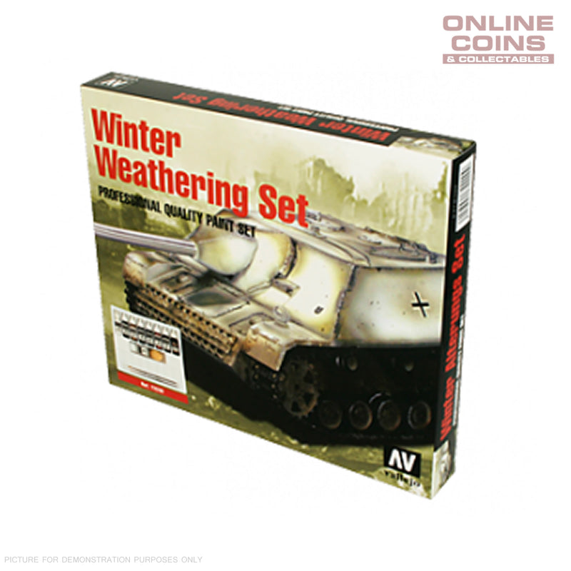 Vallejo AV72220 Model Colour Winter Weathering Set + Instructions Box Set