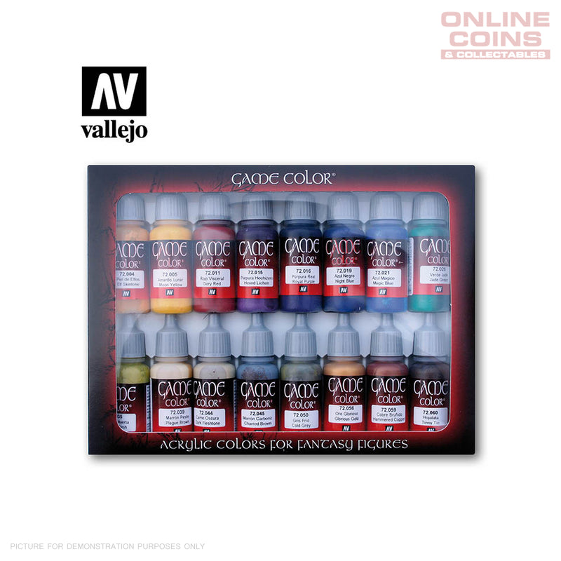 Vallejo Game Colour 72.298 - Advanced 16 Colour Set