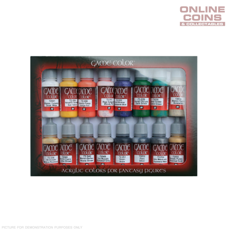 Vallejo AV72299 Game Colour Introduction 16 Colour Model Paint Set