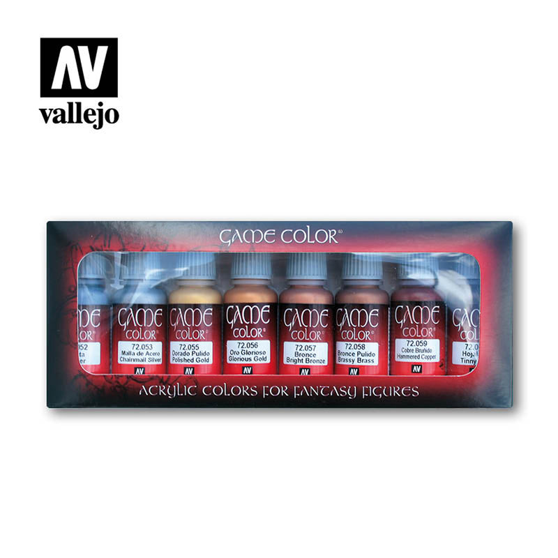 Vallejo AV72303 Game Colour Metallic Colours 8 Colourr Model Paint Set