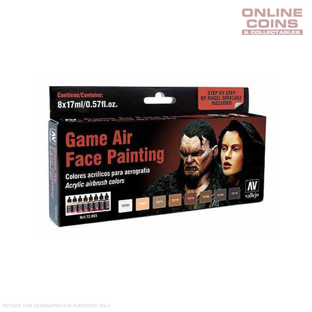 Vallejo #72.865 Game Air Special Set Face Painting (Angel Giraldez) 8 Colour Set