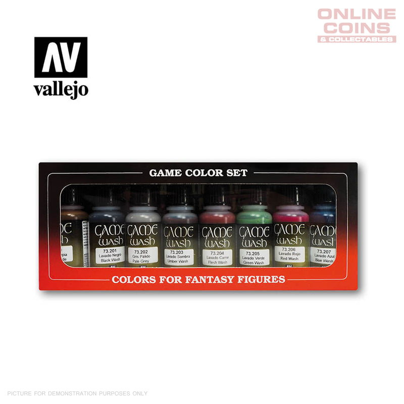 Vallejo Game Colour 73.998 - 8 Colour Washes Set