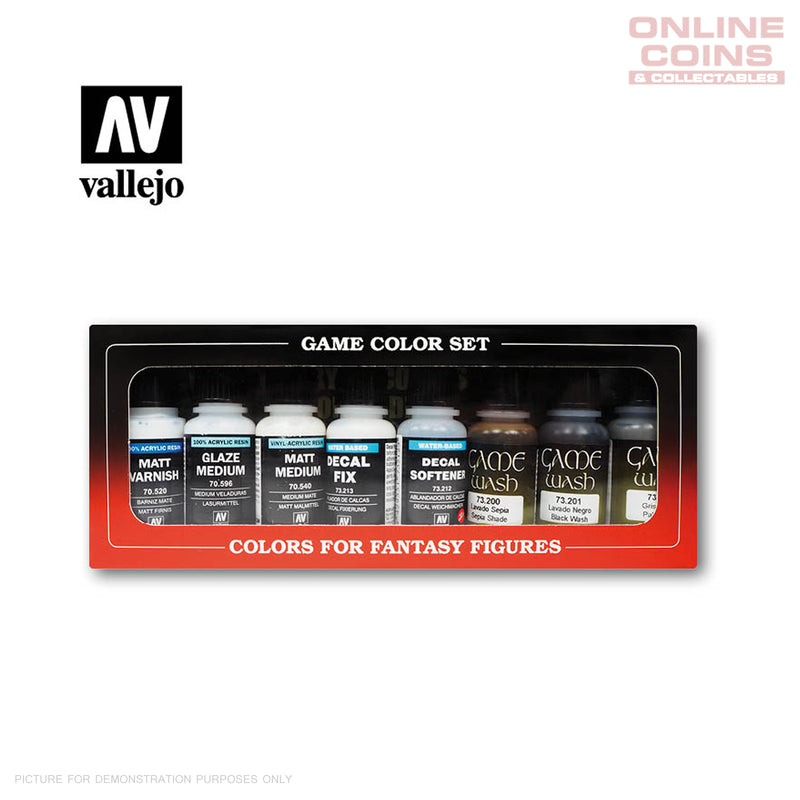 Vallejo Game Colour 73.999 - Auxiliaries and Washes Set of 8