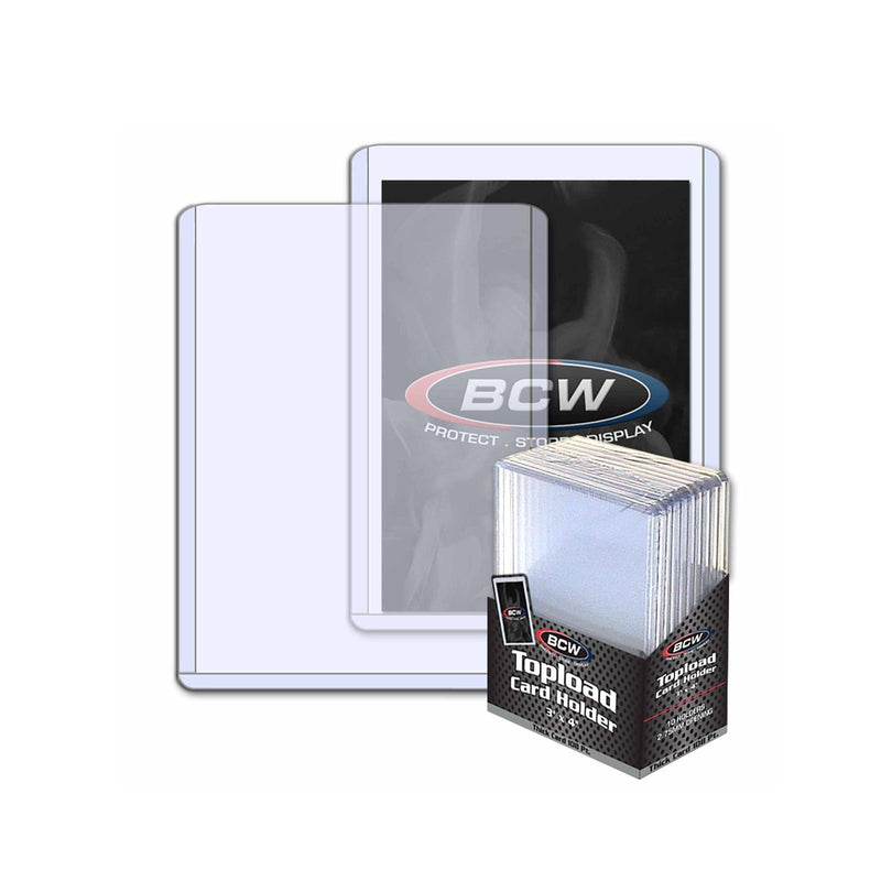 BCW Thick Toploader Sports Card or CCG Card Top Loader Holder 108pt 10pack