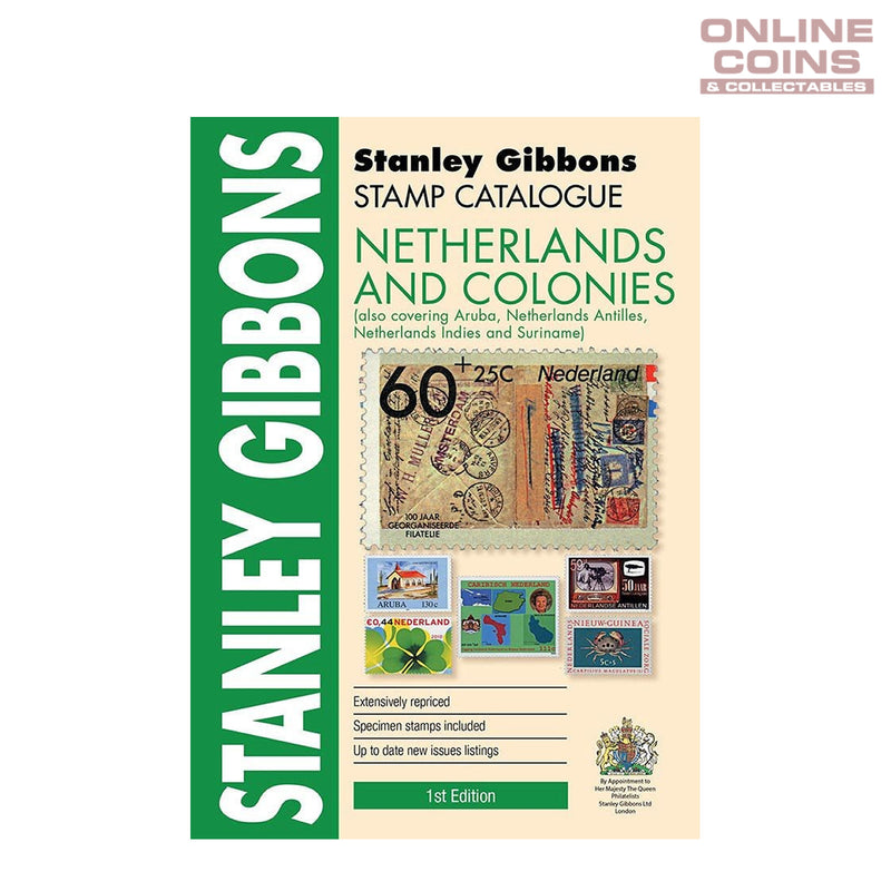 2017 Stanley Gibbons - Stamp Catalogue Netherlands and Colonies Soft Cover Book 1st Edition