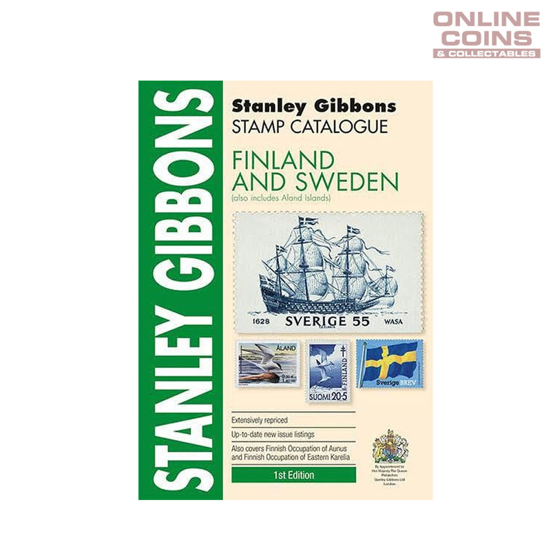 2017 Stanley Gibbons - Stamp Catalogue Finland and Sweden Soft Cover Book 1st Edition