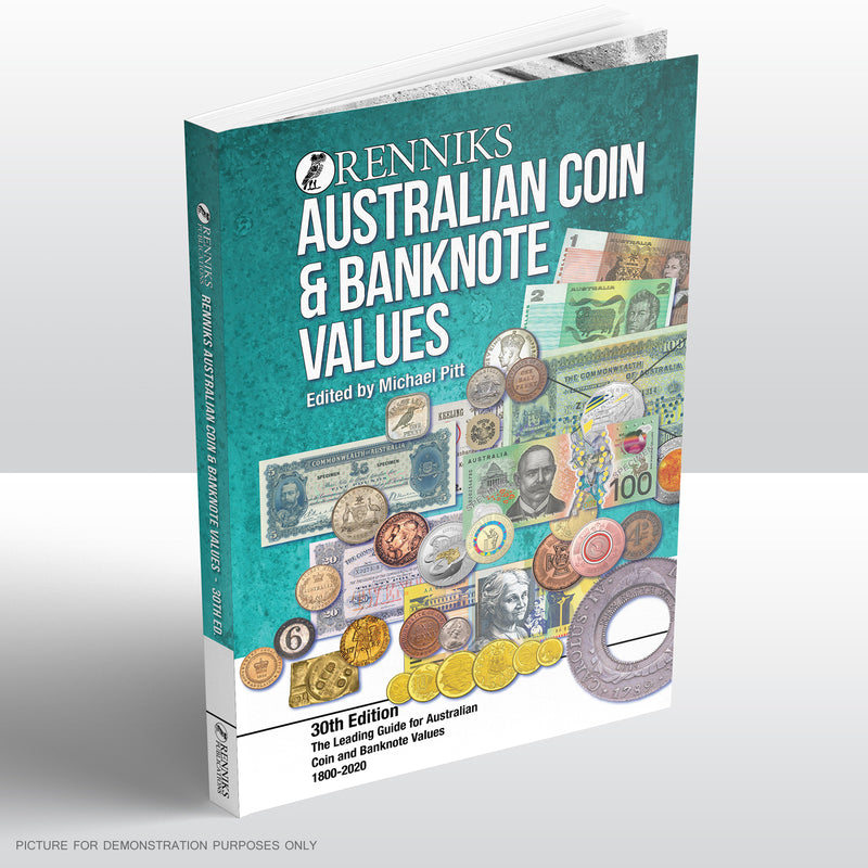 Renniks Australian Coin & Banknote Values 30th Edition Softcover - PRE ORDER