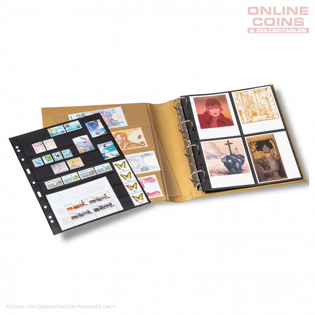 Lighthouse METALLIC EDITION Grande Coin Stamp & Banknote Album & Slipcase GOLD