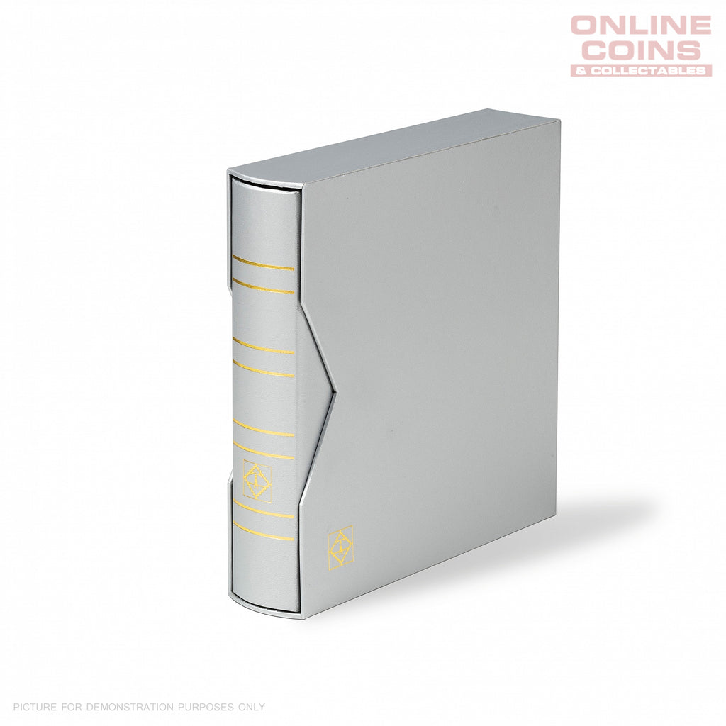 LIGHTHOUSE RINGBINDER NUMIS METALLIC EDITION WITH SLIPCASE - SILVER