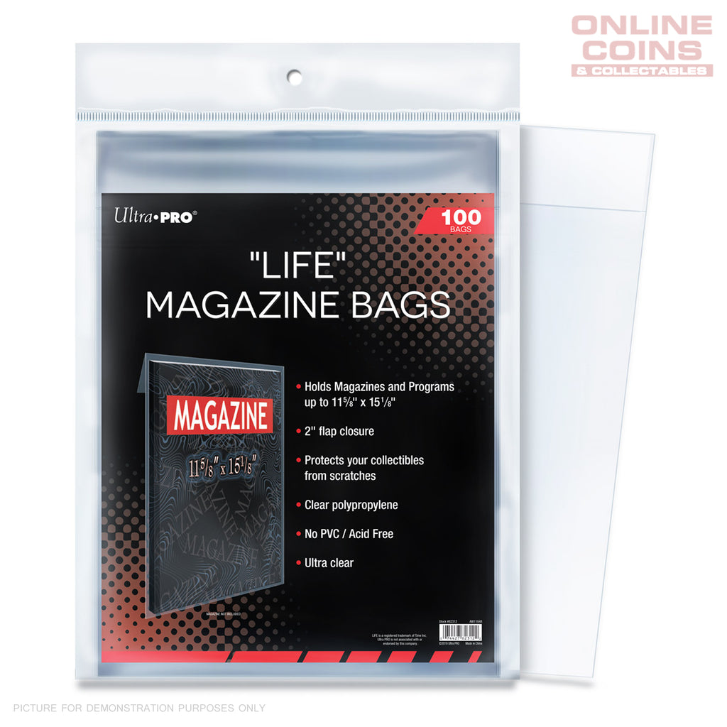 "Ultra Pro Comic Series - Life Magazine 11-1/8"" X 15-1/8"" Bags"