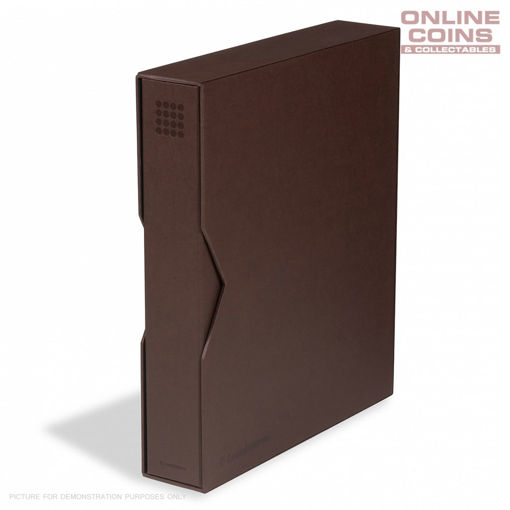 Lighthouse - Grande PUR Coin, Stamp & Banknote Ringbinder With Slipcase - BROWN