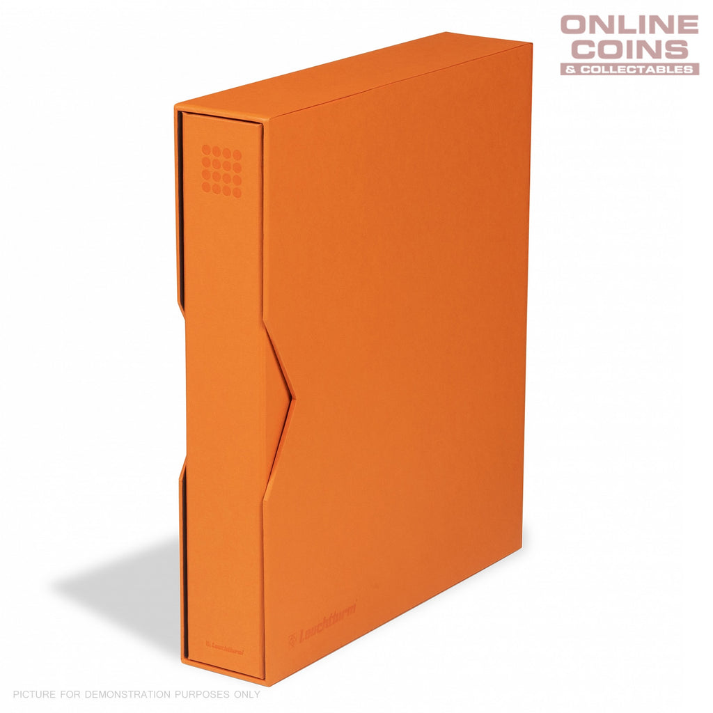 Lighthouse - Grande PUR Coin, Stamp & Banknote Ringbinder With Slipcase - ORANGE