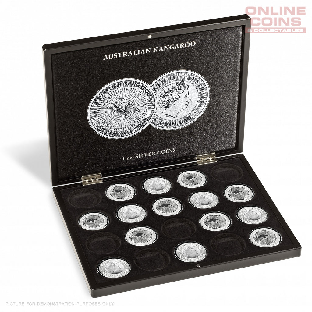 Lighthouse Presentation Case for 20 Kangaroo Silver Coins in Capsules - Black