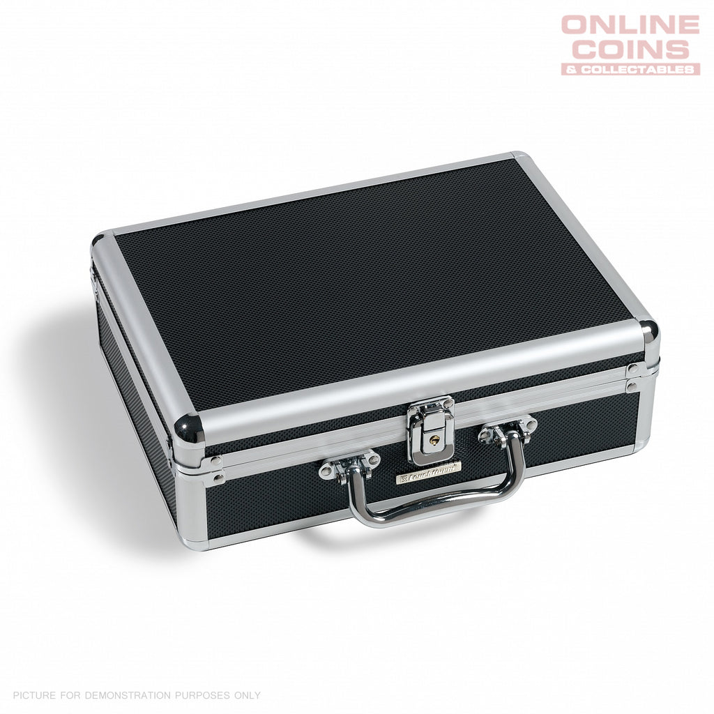 Lighthouse BLACK Aluminium CARGO S6 Coin Case for 112 Coins With 6 Trays