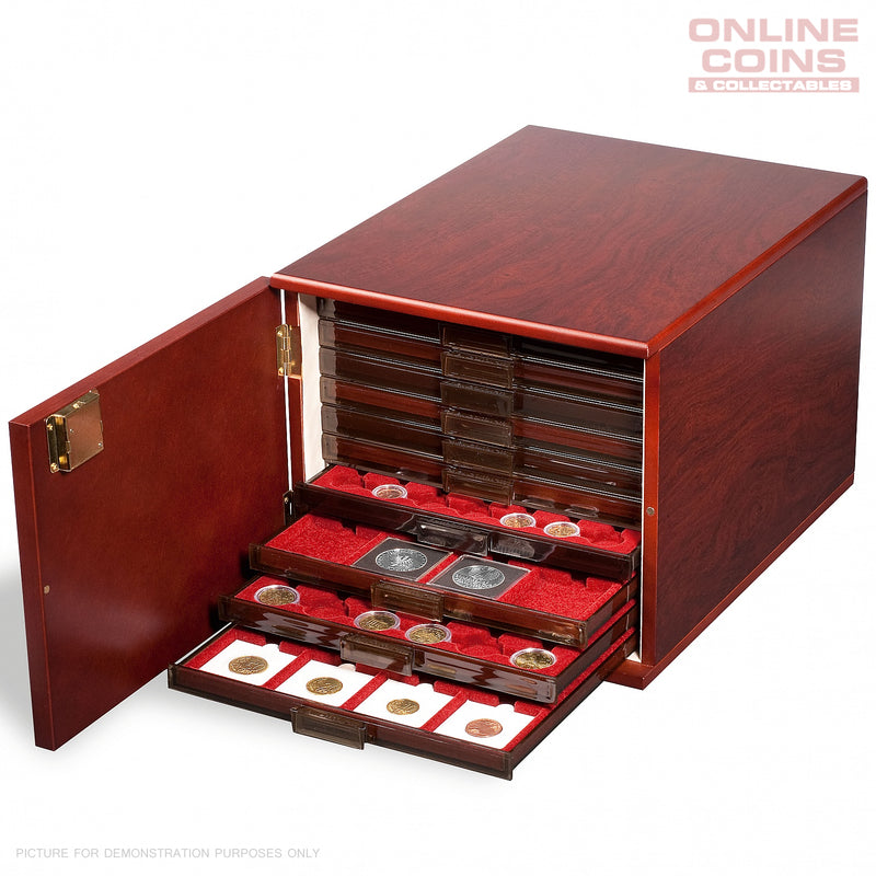 Lighthouse Mahogany MBKAB10M Lockable Coin Case for up to 10 MB Coin Drawers