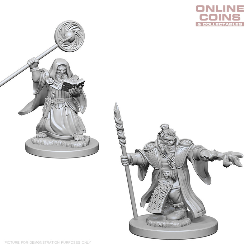 D&D Nolzurs Marvelous Unpainted Miniatures Dwarf Male Wizard - WizKids