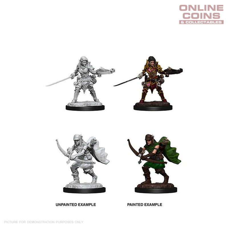 Pathfinder Battles Deep Cuts Unpainted Miniatures Female Half Elf Ranger - WizKids