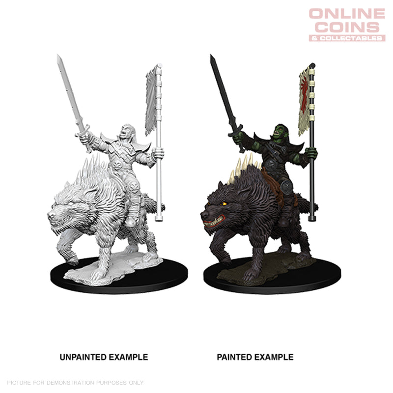 Pathfinder Battles Deep Cuts Miniatures Orc on Dire Wolf - WizKids