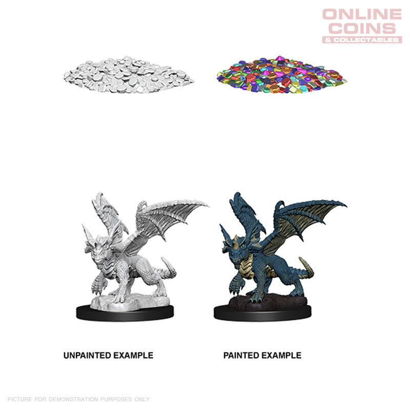 D&D Nolzurs Marvelous Unpainted Miniatures Blue Dragon Wyrmling - WizKids
