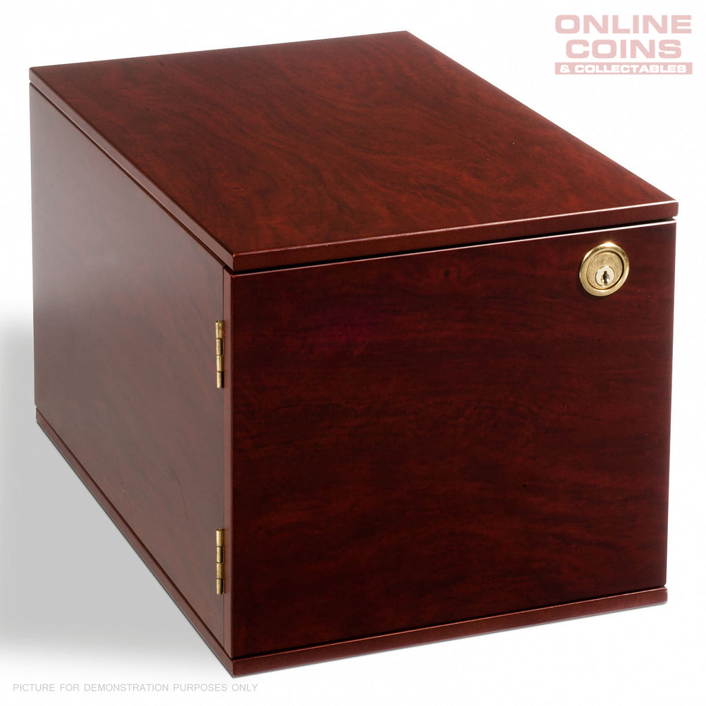 Lighthouse MAHOGANY MKAB10M Lockable Coin Case for up to 10 TAB Coin Trays