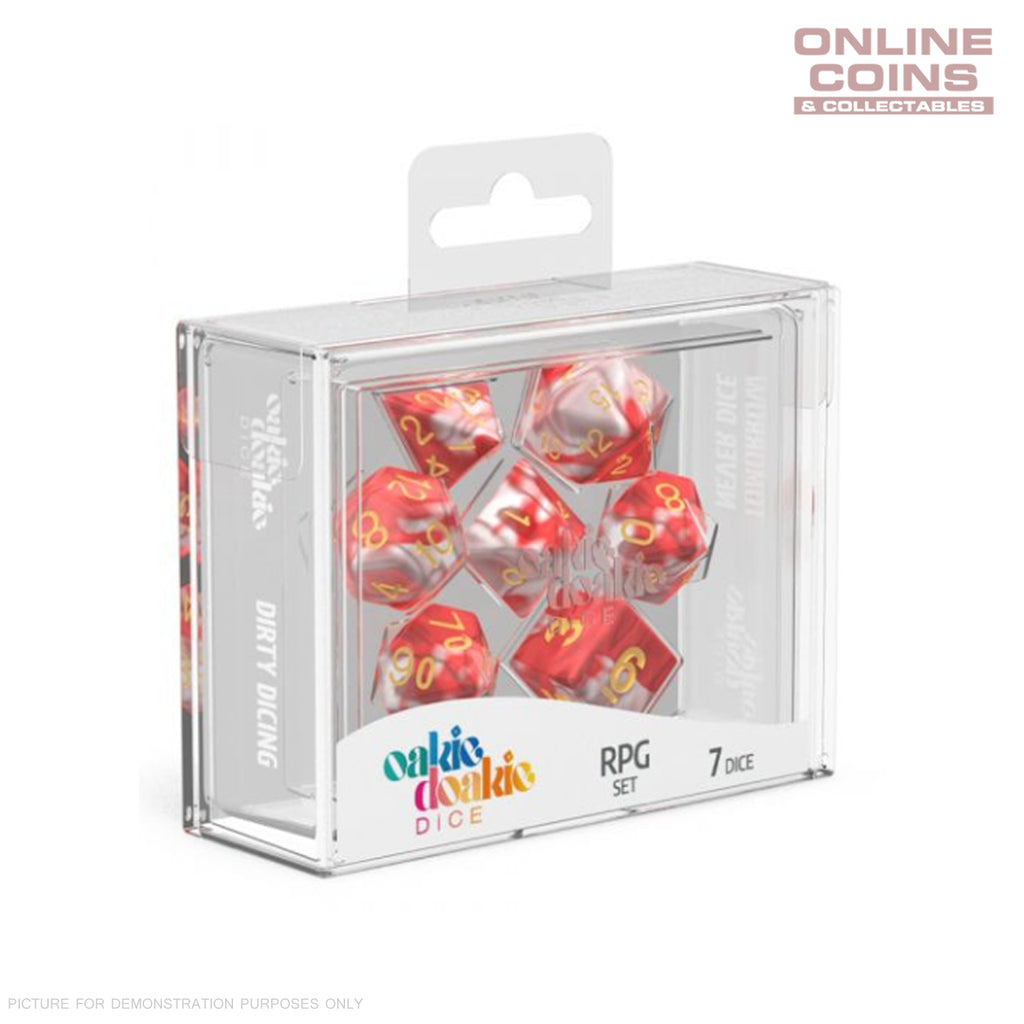 OAKIE DOAKIE DICE - RPG-SET GEMIDICE - Red Sky Dice