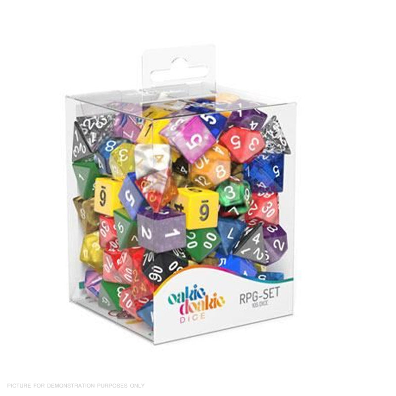 OAKIE DOAKIE DICE - RPG Set Retail Pack (105) Loose Dice Up To 15 Sets in Total!