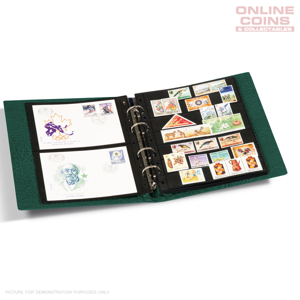 Lighthouse - OPTIMA F Binder and Slipcase for Coins, Stamps & Banknotes - GREEN