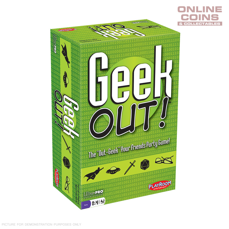 GEEK OUT! The Out-Geek Your Friends Party Game! - Ultra Pro - NEW