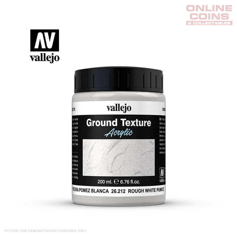Vallejo 26.212 Diorama Effects Ground Texture Rough White Pumice 200ml