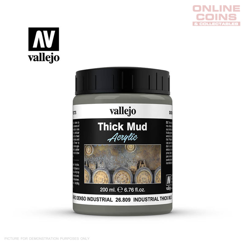 Vallejo 26.809 Diorama Effects Industrial Thick Mud 200ml