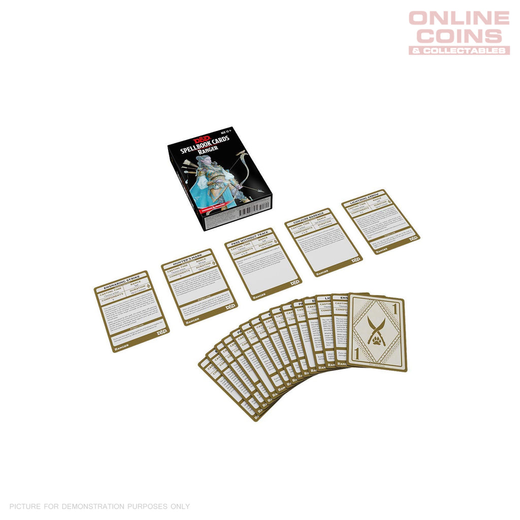 Dungeons and Dragons Spellbook Cards Ranger Deck (46 Cards) Revised 2017 Edition