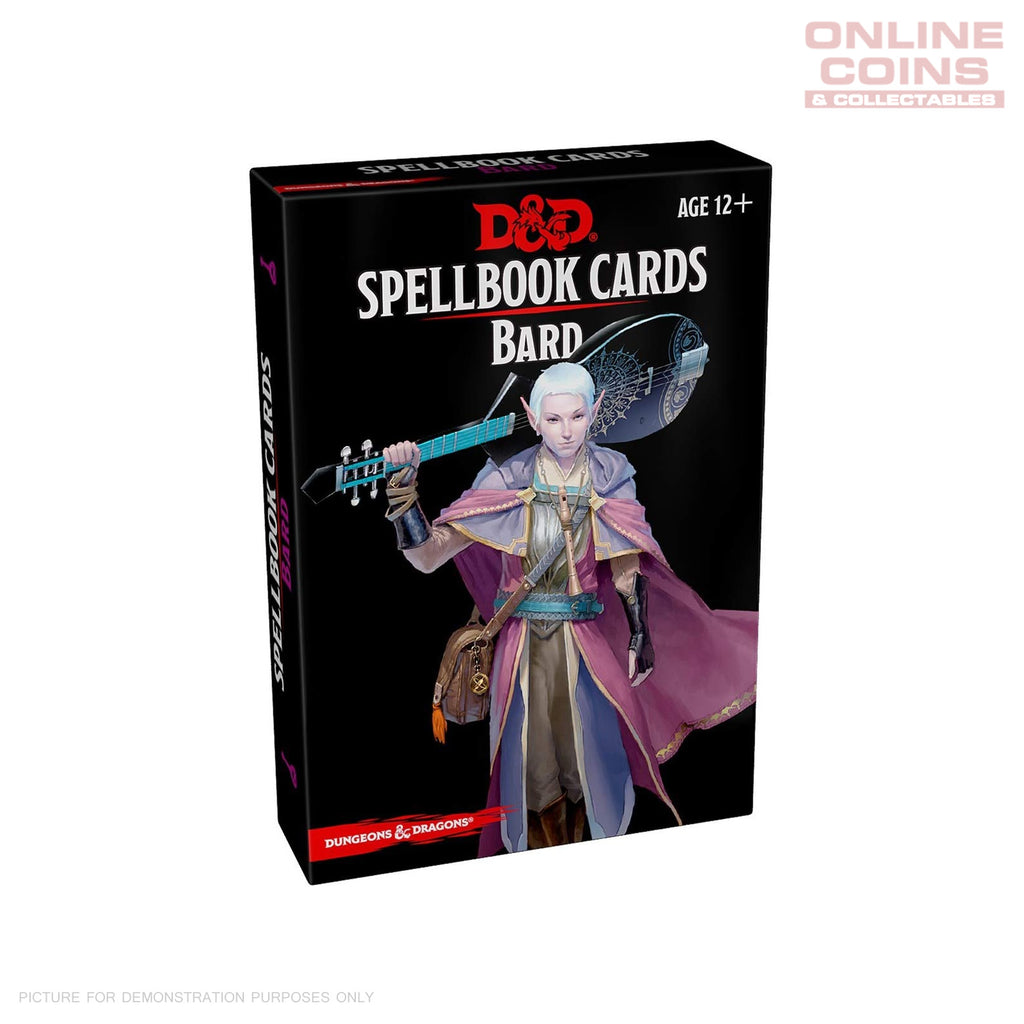 Dungeons and Dragons Spellbook Cards Bard Deck (110 Cards) Revised 2017 Edition