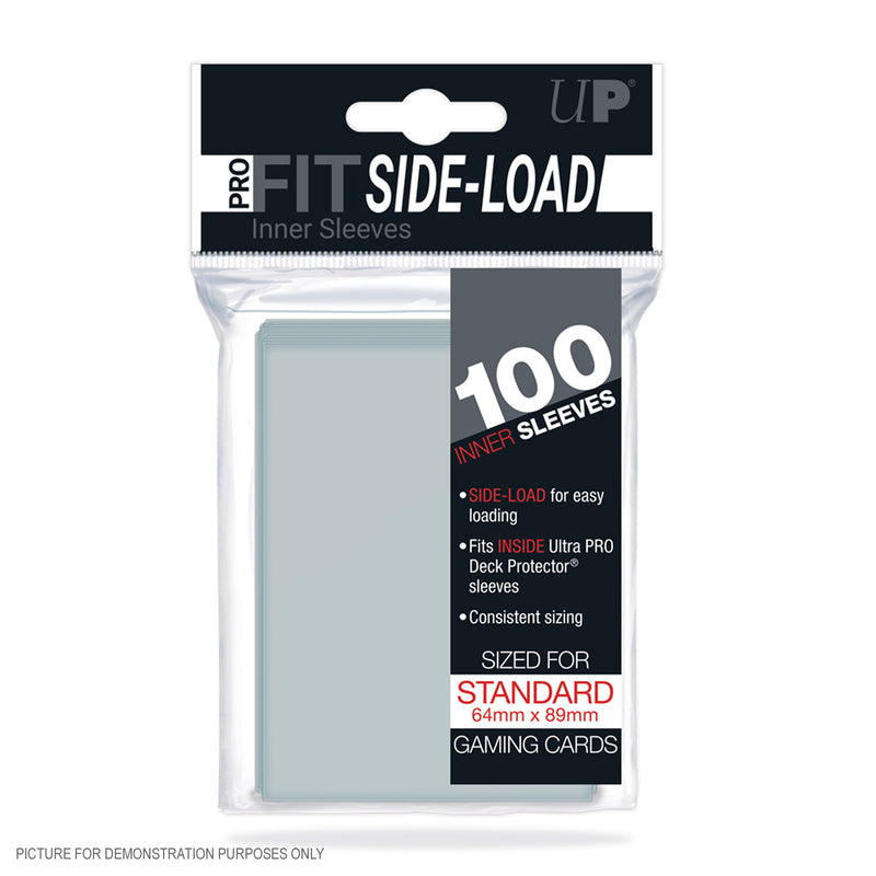Ultra Pro Deck Protector PRO-FIT Sleeves Standard 100ct Clear SIDE LOAD UP#84649