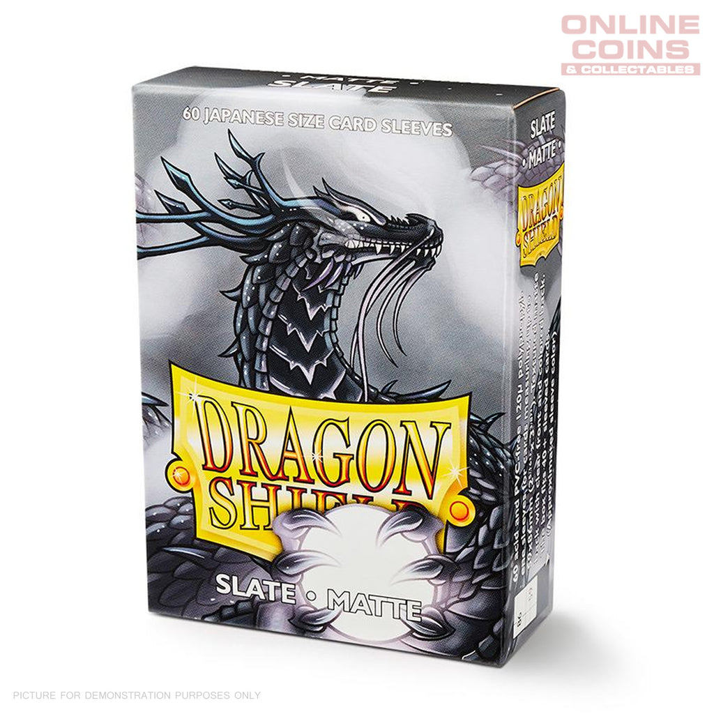 DRAGON SHIELD - Japanese Card Sleeves Matte BLACK Pack of 60 #AT11102