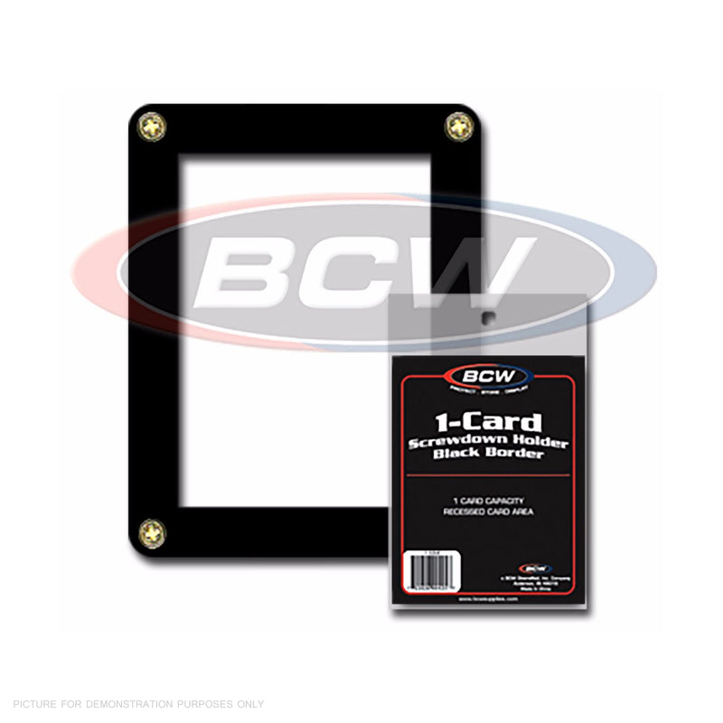 BCW One Card - 1 Card Screwdown Holder - Black Border - Single Card Holder