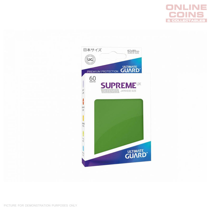 ULTIMATE GUARD - Supreme UX Sleeves Japanese Size Green (60) #UGD010573