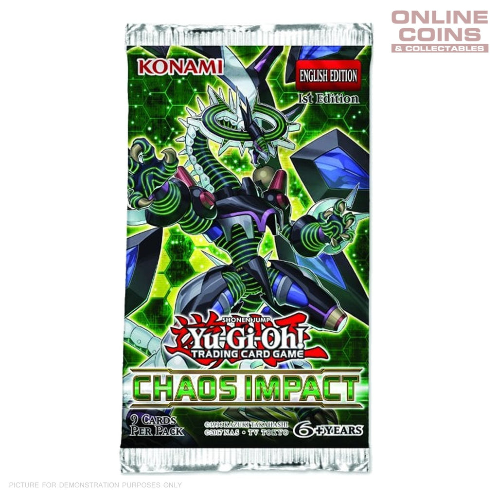 Yu-Gi-Oh! - Chaos Impact 1 x 9 Card Booster Packs 9 CARDS IN TOTAL