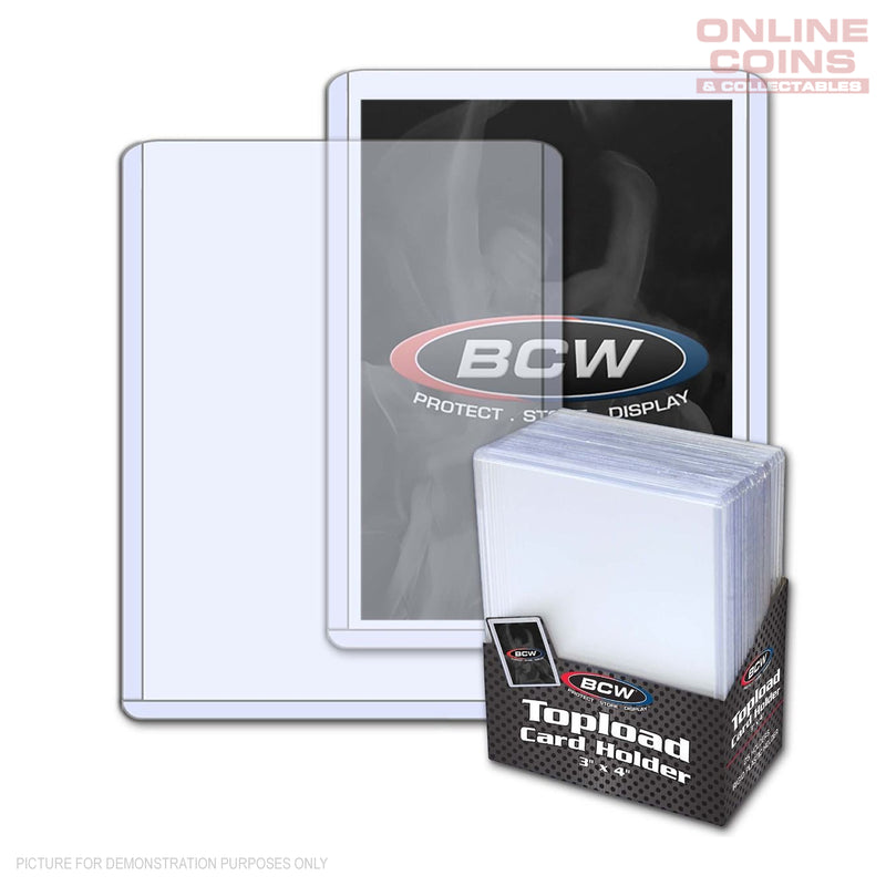 BCW Thick Toploader Sports Card or CCG Card Top Loader Holder Standard 25 Pack