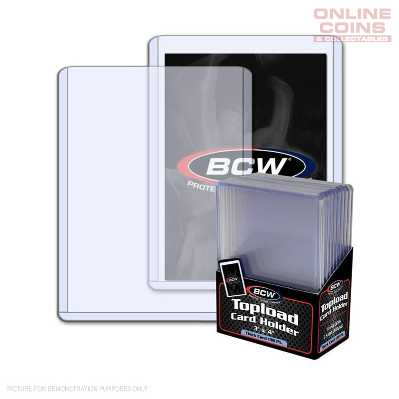BCW Thick Toploader Sports Card or CCG Card Top Loader Holder 138pt 10 Pack