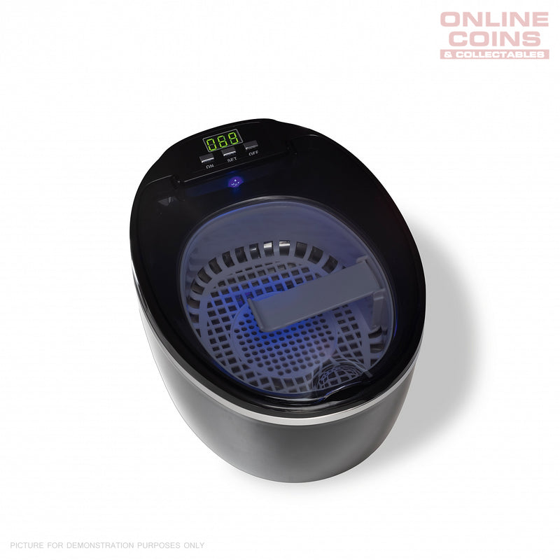 LIGHTHOUSE SAUBER USR2 ULTRASONIC CLEANER - COINS MEDALS JEWELRY CD's & DVD's