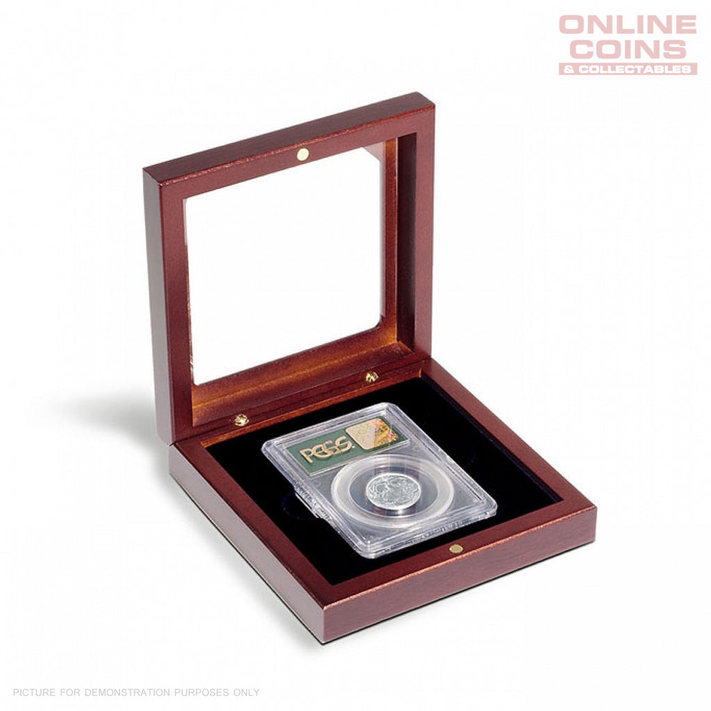 Lighthouse Volterra COIN CASE FOR CERTIFIED COIN HOLDER (SLABS) WITH GLASS TOP