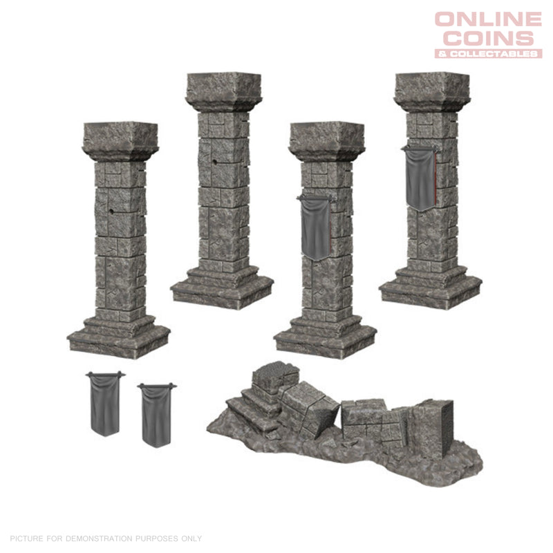 Pathfinder Deep Cuts Unpainted Miniatures Pillars and Banners - WizKids