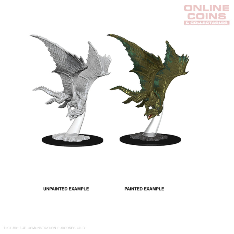 D&D NOLZURS MARVELOUS UNPAINTED MINIATURES YOUNG BRONZE DRAGON - WIZKIDS