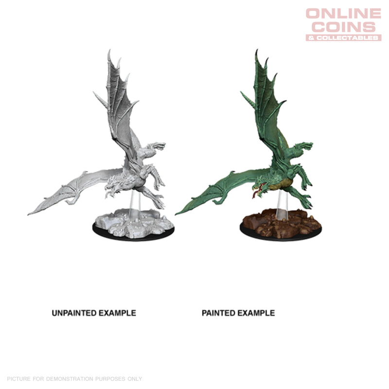 D&D NOLZURS MARVELOUS UNPAINTED MINIATURES YOUNG GREEN DRAGON - WIZKIDS