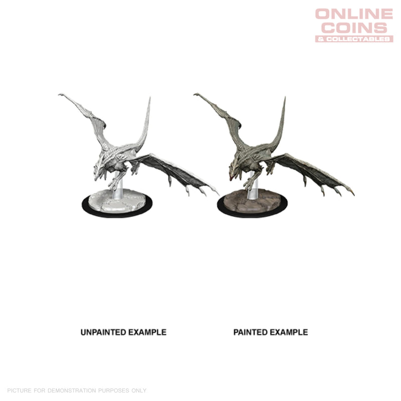D&D NOLZURS MARVELOUS UNPAINTED MINIATURES YOUNG WHITE DRAGON - WIZKIDS