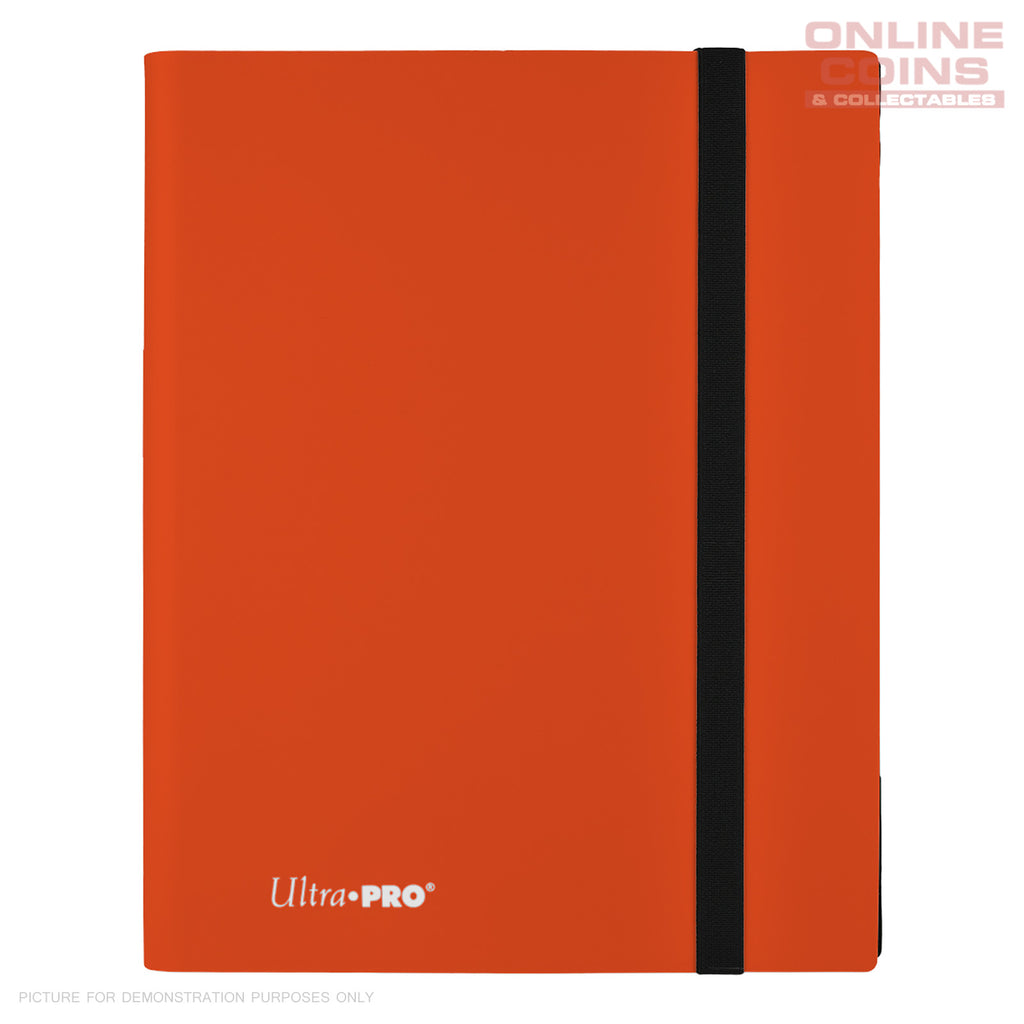 Ultra-Pro ECLIPSE Pro Binder ORANGE - Holds 360 Cards - With 40 x 9 Pocket Pages