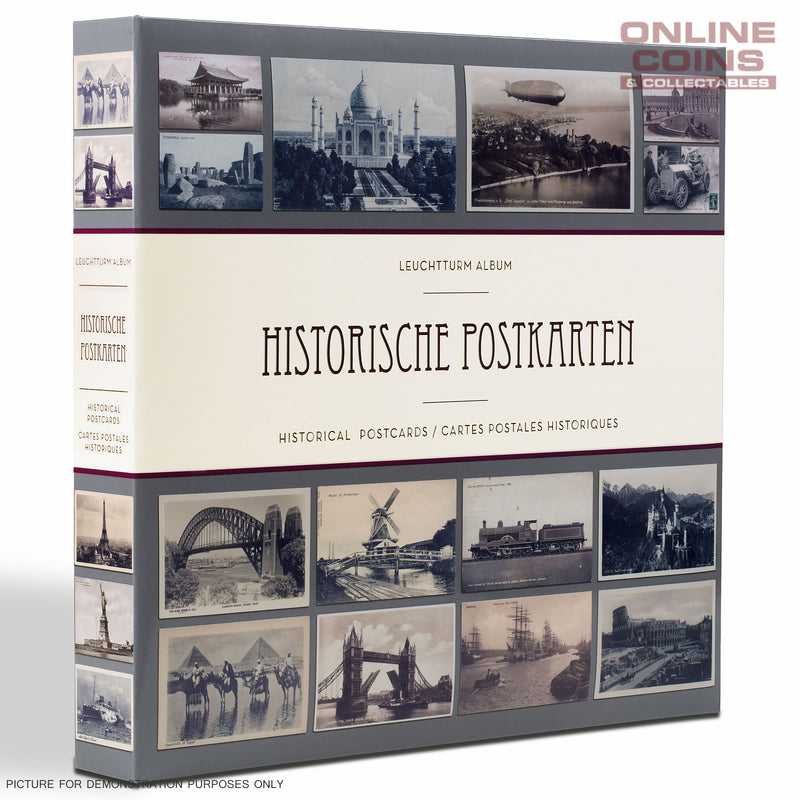 Lighthouse ALBUM FOR 600 HISTORICAL POSTCARDS, WITH 50 BOUND CLEAR POCKET SHEETS